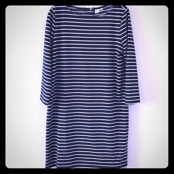 GAP Dresses & Skirts - GAP Women's Medium navy & white striped Dress